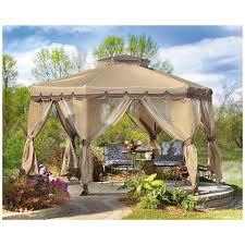 Bbq Grill Gazebo Home Depot by Garden Winds Gazebo Replacement Canopy Home Outdoor Decoration