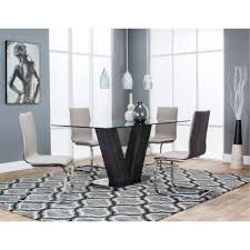 Glass And Chrome Dining Table Glass And Chrome 5 Piece Dining Set Holden Rc Willey Furniture