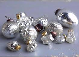 antique silver mercury glass ornaments set theholidaybarn