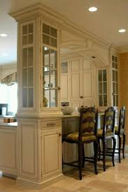 love this arch in between instead of overhead cabinets