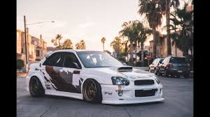 bagged subaru wagon sean u0027s wide and bagged subaru sti youtube