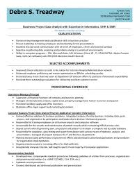 Resume With Qualifications Clinical Data Analyst Resume With Data Analysis Resume And Data