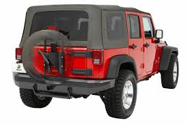 jeep tire carrier bestop highrock 4x4 oversize tire carrier for 07 current jeep