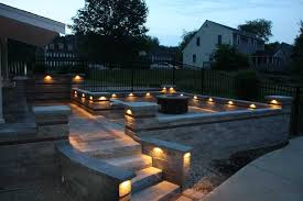 Patio Pillar Lights Patio Wall Lighting Home Design Ideas And Pictures