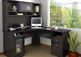 Computer Hutch Desk With Doors Breathtaking Design L Shaped Table Desk Sensational Desk To