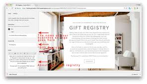 wedding registry website tutorial how to create a gift registry with squarespace