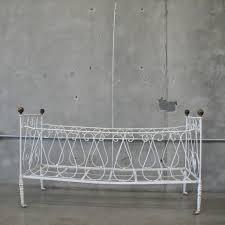 vintage white wrought iron baby crib u2013 urbanamericana