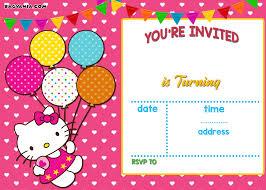 free personalized kitty birthday invitations drevio
