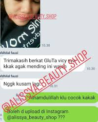 Gluta Vicy skincare original dan murah alissya beauty shop instagram profile