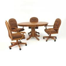 dining table with caster chairs new dinette sets with casters inspirations including attractive
