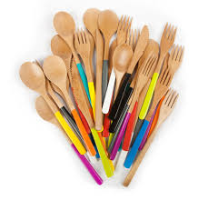 cutlery set with stand find of the week bamboo cutlery paint it what i tell you