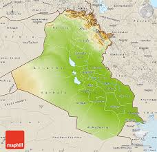 map of irak physical map of iraq shaded relief outside