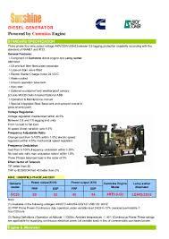 sc55 50kva cummins generator data sheet