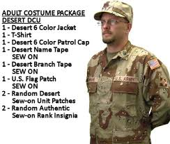 Authentic Halloween Costumes Adults Mens Military Costume 6 Color Desert Camouflage