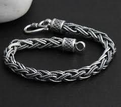 mens silver jewelry bracelet images Sterling silver men 39 s cuff bracelets bracelet handmade thailand jpg