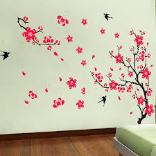aliexpress com buy red plum blossom stickers removable diy vinyl aliexpress com buy red plum blossom stickers removable diy vinyl quote wall sticker poster home decoration from reliable home decor suppliers on