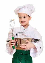 petit chef avec l ustensile de cuisine photo stock image du