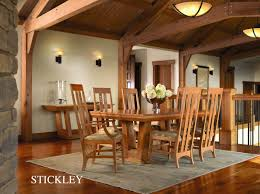 dining classic furniture stickely highlands trestle table 89 91 598 2lvs