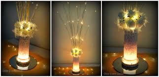 Led Lights In Vases Rustic Glow Event Decor