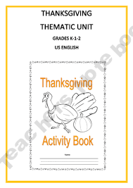 thanksgiving thematic unit for use with grades k 1 2 product from