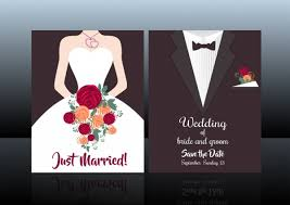 groom and groom wedding card wedding card cover template groom fashion background free