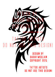 custom tribal wolf tattoo by draikairion on deviantart