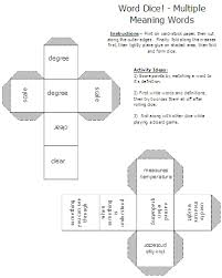 multiple meaning words u2013 activities worksheets word lists and