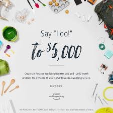 what stores do wedding registry say i do to 5 000 with the wedding registry sweepstakes