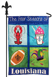 Alabama Yard Flag Four Seasons Of Louisiana Double Applique Garden Flag I Americas