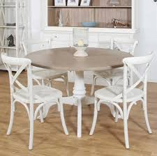 Painted Dining Table Ideas Mango Wood Dining Table And White Painted Chairs Home