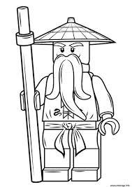Coloriage lego ninjago sensei wu Dessin à Imprimer  szinezo