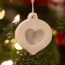 make an adorable white clay fingerprint ornament