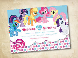My Birthday Invitation Card My Little Pony Birthday Invitations All About Birthday