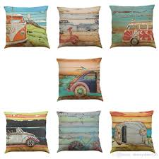 Outdoor Pillows Sale by Oil Painting Car Linen Cushion Cover Home Office Sofa Square