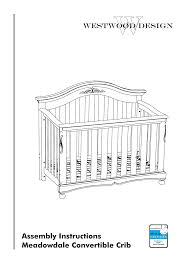 Meadowdale Convertible Crib Westwood Design Meadowdale Crib Always There Hardware User Manual
