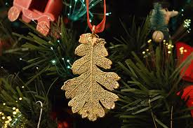 real leaf ornaments 24k gold plated real lacey oak leaf