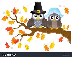 thanksgiving owls thematic image 1 eps10 stock vector 710737483
