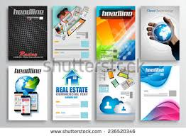 set flyer brochure design templates geometric stock vector