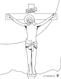 jesus on the cross coloring pages hellokids com