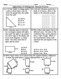 pythagorean theorem applications worksheet free worksheets library