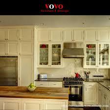 cuisine en forme de l design moderne en forme de l en bois massif armoires de cuisine dans
