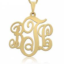 Monogrammed Necklace Gold All Gold Monogram Necklaces Namefactory