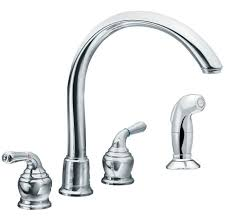 Moen Two Handle Kitchen Faucet Repair Moen Monticello Single Handle Kitchen Faucet With Cathedral Spout