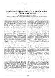 procalcitonin a possible marker of invasive fungal infection in