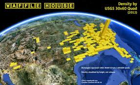 United States On A Map by A Map Of All The Waffle House Locations In America Huffpost