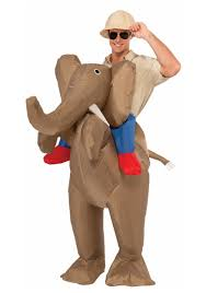 Inflatable Costume Halloween by Inflatable Ride An Elephant Costume