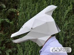 make your own dolphin mask with just paper and glue mask