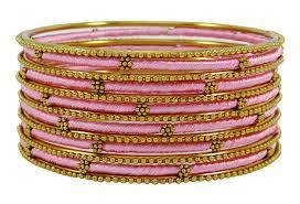 fashion bracelet designs images Indian silk thread wrapped fashion bangle bracelet set women jpg