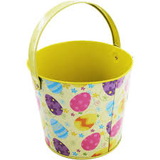 easter buckets easter tin yellow craft activities for kids at the works