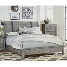 rustic casual gray queen sleigh bed nelson rc willey furniture